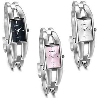 JewelryWe-3pcs-Damen-Armbanduhr-Elegant-Charm-Casual-Analog-Quarz-Uhr-mit-Rechteck-Zifferblatt-3-Farben