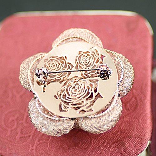 Merdia Fashinable Und Raffinierte Hollow-Out Brosche Breastpin Mit Rose Gold Farbe Für Mädchen Damen Und Frauen