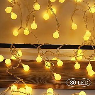 Aookey-LichterketteLichterkette-Batterie10M-80-LED-Lichterkette-Auen-LED-Outdoor-Lichterkette-Batterienbetrieben-WarmweiLED-Globe-LichterketteWeihnachtenHochzeit-Party-Garten-Balkon