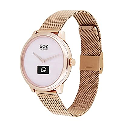 X-WATCH–SOE-XW-PURE–Damen-Smartwatch-Schrittzhler-Hybrid-Smartwatch-mit-Analoguhr-und-Touch-Display-Fitness-Tracker-fr-Android-und-iOS