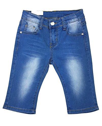 Mädchen Stretch Jeans Capri, Sommerhose, Mn7825e