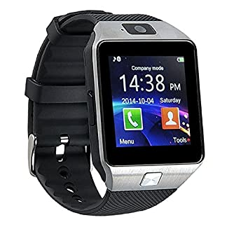 kxcd-Bluetooth-Smart-Watch-dz09-Smartwatch-GSM-SIM-Karte-mit-Kamera-fr-Android-iOS-Silber