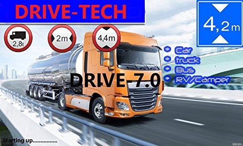 7-Zoll-Navigationsgert-DRIVE-70-Fr-LKWPKW-BUSWohmobil-Blitzer-Kostenlos-Map-Update-Garantie-Gefahrgut-GRATIS-SONNENSCHUTZ-Sofort-Lieferbar