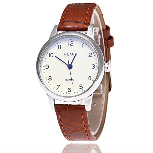 Sepbear-Unisexuhr-Analog-Quarz-Armbanduhr-Zahlen-Ziffern-mit-Leder-Armband-und-Batterie-Uhr