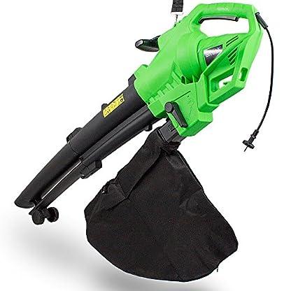 BITUXX-Elektro-Laubsauger-3in1-Hcksler-Laubblser-Laubhcksler-3000-Watt-Netzbetrieb-mit-Fangsack-Rollen-Schultergurt