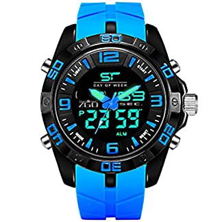 CIVO-Herren-Jungen-Digitaluhr-Militr-Chronographen-Multifunktions-Sportuhr-50M-Wasserdicht-LED-Groes-Zifferblatt-Uhren-Alarm-Datum-Kalender-Mnner-Business-Casual-Tactical-Geschfts-Uhren-Gummi-Uhr