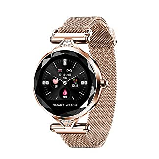ANLD-Damenmode-Smart-Watch-Health-Monitoring-TapeFarb-DisplayIP67-wasserdichtFitness-Tracker-weibliches-Armband-physiologische-Periode-Erinnerung