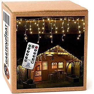 168-240-480-LED-Lichterkette-Eisregen-warmwei-Timer-Programme-Fernbedienung-Dimmen-auen