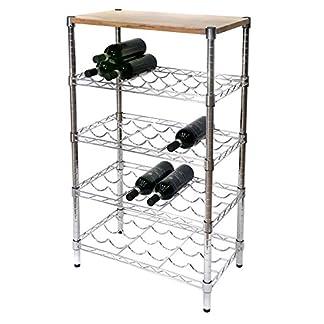 Archimede-Weinregal-Wein-Flaschenhalter-xbw3560-in-Stahl-verchromt-Breite-60-cm