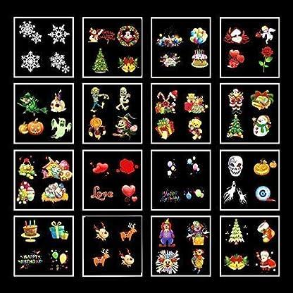 Qomolo-LED-Projektionslampe-Projektor-Lampe-Nachtlicht-Kinder-Wandbeleuchtung-Garten-Beleuchtung-Wasserdicht-mit-16-Motiven-Fernbedienung-fr-Ostern-Feiertag-Geburtstag-Party