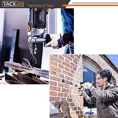 Bohrmaschine-TACKLIFE-850W-3000-RPM-Schlagbohrmaschine-mit-15-Bohrern-Aufbewahrungskoffer-360-verstellbarer-Zusatzhandgriff-Aluminiumgehuse-Hammer-und-Bohrer-2-Modus-in-1-PID03B