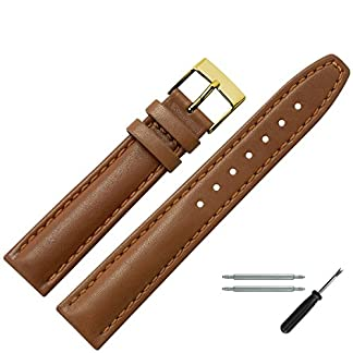 MARBURGER-Uhrenarmband-18mm-Leder-Braun-Uhrband-Set-2891834000220