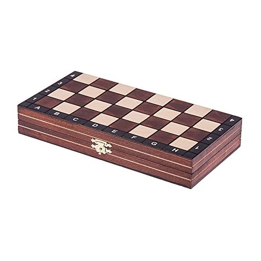 SQUARE-GAME-Schach-Schachspiel-MAGNETISCHE-265-x-265-cm-Schachfiguren-Schachbrett-aus-Holz