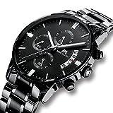 Herren-Uhren-Mnner-Militr-Wasserdicht-Sport-Chronograph-Schwarz-Edelstahl-Armbanduhr-Luxus-Design-Business-Datum-Kalender-Modisch-Analog-Quarzuhr