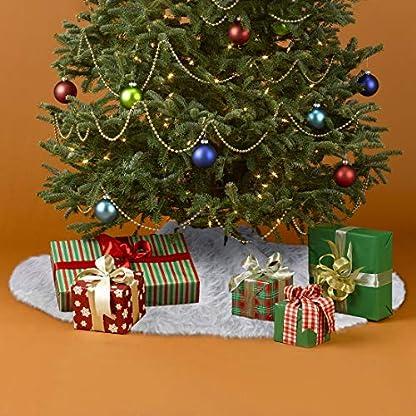 iMucci-Weihnachtsbaum-Rock-aus-weiem-Plsch-Feiertagsdekoration