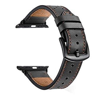 KZKR-Herren-Uhrarmbnder-Leder-Dornschliee-Armband-Uhrarmband