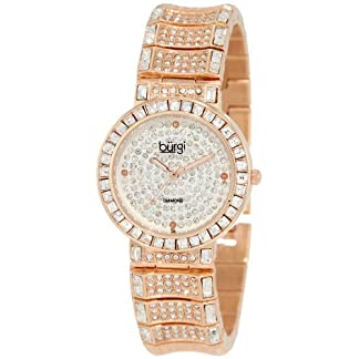 Burgi-Damen-Diamond-Baguette-Quartz-Uhr