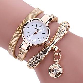 Frauen-Leder-Strass-Armbanduhren-Mdchen-Analog-Quarz-Armbanduhr-Damen-Slim-Uhr