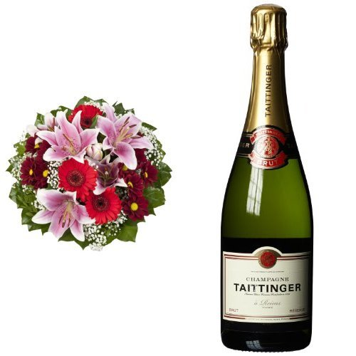 Blumenstrau-Charlotte-mit-rosa-Lilien-Taittinger-Brut-Reserve-Champagner-1-x-075-l