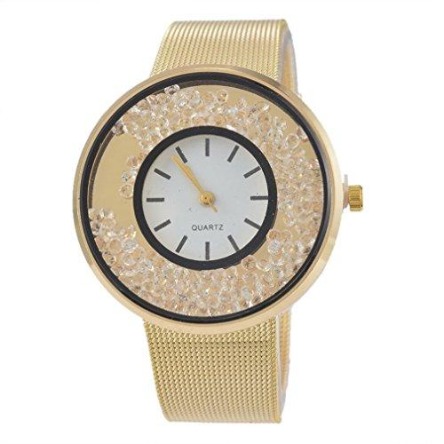 Souarts-Damen-Vergoldet-Farbe-Treibsand-Armbanduhr-Quartzuhr-Sommer-Uhr-Quartzuhr-Analog-mit-Batterie