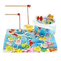 B-Blesiya-Magnetisches-Fische-Angeln-Angelspiel-Spielzeug-Kinderspielzeug