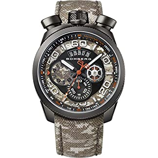 Bomberg-Herren-Chronograph-Quarz-Uhr-mit-Leder-Armband-BS45018