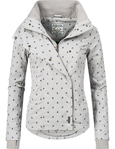 Sublevel Damen leichte Frühlingsjacke mit Kapuze Übergangs Jacke 43307A 3 Farben XS-XL
