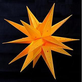 Weihnachtsstern-58cm-42cm-Wei-Rot-Gelb-LED-Auenstern-3D-Adventsstern-Stern-Leuchtstern-mit-Timer