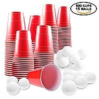 Beer-Pong-Set–100-rote-Becher-und-15-Blle–red-cups-Partybecher-Bier-Pong-Set–ideal-fr-Weihnachsfeiern-und-Partys