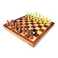 StonKraft-handgefertigtes-hochwertiges-Holz-Schachspiel-46-x-46-cm-aus-Palisander-mit-Extra-Queen