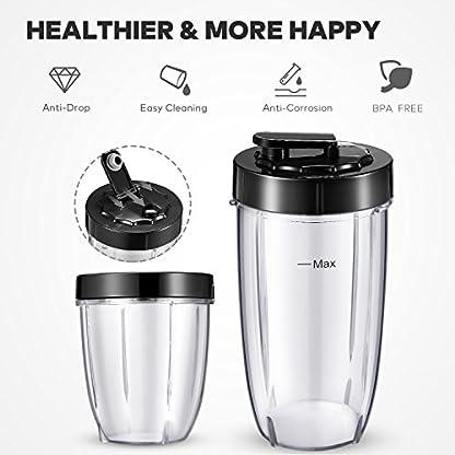 Standmixer-Aicook-Smoothie-maker-fr-Smoothies-und-Milchshakes-Frchte-und-Shakes-4-BPA-freie-Tritan-Trinkflasche-900W-mit-21000-Umin-15-teiliges-Set-Mixer