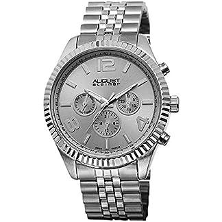 August-Steiner-Herren-Endeavor-Schweizer-Quarz-Multifunktions-Edelstahl-Armband-Armbanduhr