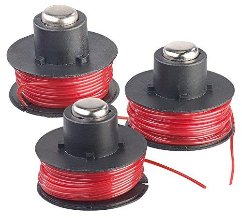 AGT-Professional-Zubehr-zu-Rasen-Freischneider-3er-Set-Ersatz-Fadenspulen-fr-Akku-Rasentrimmer-AW-20RT-65-m-Elektro-Rasen-Freischneider