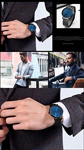 Modern-minimalistische-Herren-Armband-Blau-Schwarz-mit-aus-Edelstahl-mit-Armband-wasserdicht-ultra-dnn-Analog-Quarz-Armbanduhr