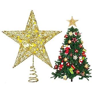 UX-Weihnachtsbaumspitze-aus-Metall-glitzernd-Weihnachtsbaum-Dekoration-203-cm