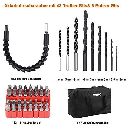 Akkuschrauber-30-Nm-KIMO-Akku-Bohrschrauber-mit-20V-20-Ah-Li-Ionen-Akku-213-Drehmomentstufen-Schrauben–10-mm-2-Gang-43-tlg-Zubehrset-1-x-Aufbewahrungstasche