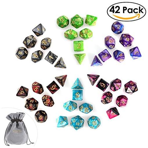 PBPBOX-Polyedrische-Dice-Set-fr-DND-Dungeons-und-Dragons-Tischkartenspiele-42-Stck