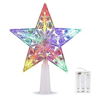Weihnachtsbaumspitze-Stern-VOLADOR-Weihnachtsbaum-Stern-6-Zoll-Christbaumspitze-Stern-Tannenbaum-Spitze-Mehrfarben-LED-fr-Feiertags-Dekorationen