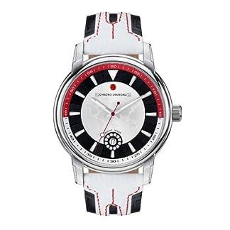 Chrono-Diamond-82067-wei-43-mm-Armbanduhr-Lederband-Farbe-Wei