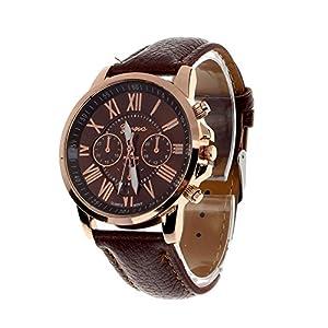 Franterd-Damen-Armbanduhr-Elegant-Uhr-Modisch-Zeitloses-Design-Klassisch-Leder-Rmische-Ziffern-Leder-analoge-Quarzuhr-Armbanduhr-Braun