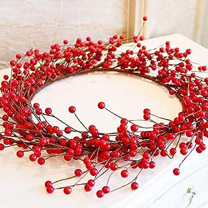 TBSLee-Weihnachtskranz-Simulation-Von-Rote-Beeren-Groer-Weihnachten-Krnze-Garlands-Pendant-Girlanden-Weihnachten-Hausdekoration-Fr-Zuhause-Schule-Einkaufszentrum-Party-Drinnen-und-drauen-40cm