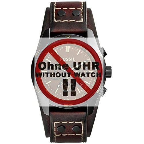 Fossil-Uhrband-Wechselarmband-LB-CH2990-Original-Ersatzband-CH-2990-Uhrenarmband-Leder-22-mm-Braun