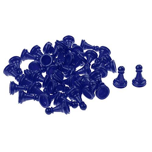 Fenteer-50-Stcke-Schachfiguren-Spielsteine-Kegel-Figuren-fr-Backgammon-Halma-Spiel
