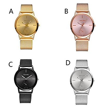 Lolamber-Armbanduhr-fr-Damen-Herren-Slim-Uhr-Armband-Frauen-Silikonband-Geschfts-Klassisch-Analog-Quarz-Dnn-Armbanduhr-mdchen-Elegant-Silber-Uhr-mit-Wei-Zifferblat-Schwarz