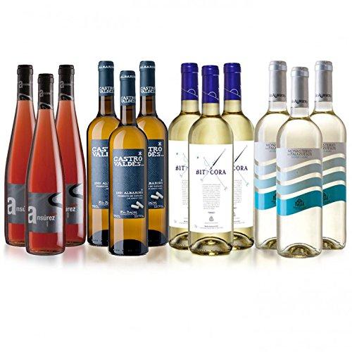 Wein-Sauvignon-Verdejo-Albario-Rose-Gemischter-12er-Karton