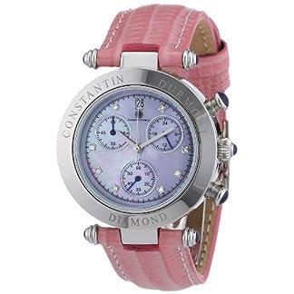 Constantin-Durmont-Damen-Armbanduhr-XS-Visage-Chronograph-Quarz-Leder-CD-VISL-QZ-LT-STST-PKD
