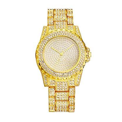 MJARTORIA-Damen-Analog-Quarzuhr-Gold-Farbe-Strass-Glitzer-Stahl-Metallarmband-Uhr-Frauen-Armbanduhr-Geschenk