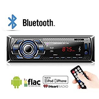 Lypumso-Bluetooth-Autoradio-fr-Das-Armaturenbrett-1-DIN-ISO-Stecker-mit-kabelloser-Fernbedienung-Autoradio-FM-Radio-MP3-Player-AUX-Audio-mit-USB-SD-MMC-Port-Autoradio