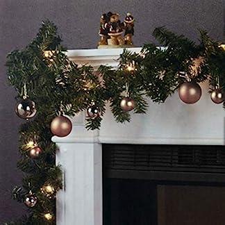 Wohaga-Weihnachtsgirlande-Tannengirlande-Lichterkette-270cm-180-Spitzen-20-Lampen-16-Kugeln