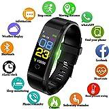 Lige-Fitness-Trackers096-Zoll-OLED-Farbdisplay-Touchscreen-Aktivitts-Tracker-Mit-Pulsmesser-Schlafmonitor-IP67-Wasserdicht-Outdoor-Sportarten-Smart-Armband-fr-iOS-Android-Bluetooth-Verbindung